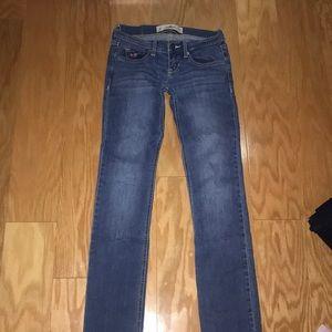 Hollister medium/light wash jean, Size 0S